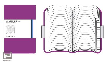 Moleskine adresboekje volant L roze gelineerd