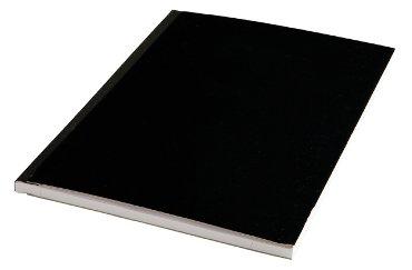 Schrift met harde kaft A4 200blz gelinieerd zwart