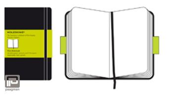 Moleskine notitieboekje classic L zwart blanco