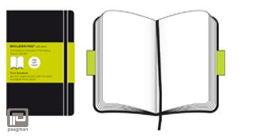 Moleskine notitieboekje soft cover XL zwart blanco