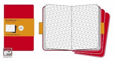 Moleskine cahier journaal L rood gelinieerd