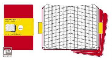 Moleskine cahier journaal L rood geruit