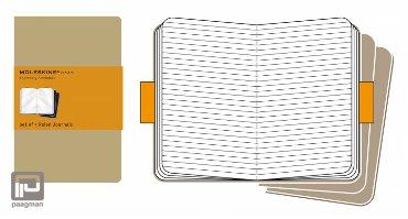 Moleskine cahier journaal XL bruin gelinieerd