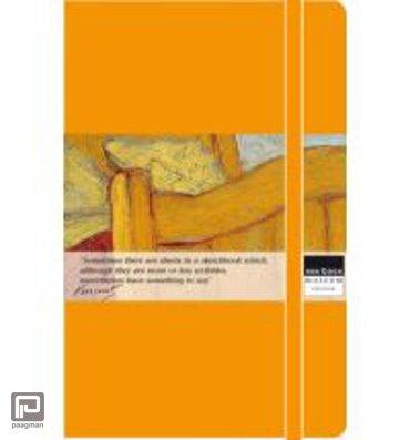 Moleskine cahier journaal pocket Van Gogh geel blanco schetsboek