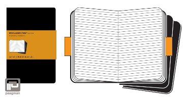 Moleskine cahier journaal pocket zwart gelinieerd