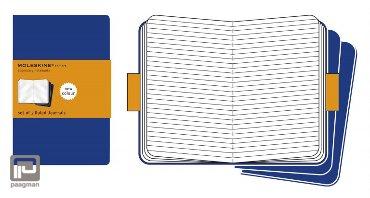 Moleskine cahier journaal pocket blauw gelinieerd
