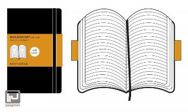 Moleskine notitieboekje soft cover L zwart gelinieerd
