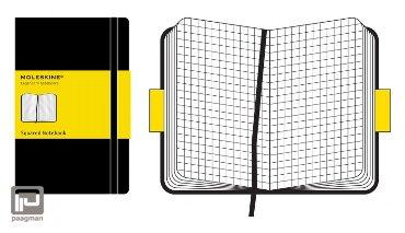 Moleskine notitieboekje classic pocket zwart geruit