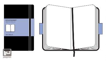 Moleskine schetsboek classic pocket zwart blanco