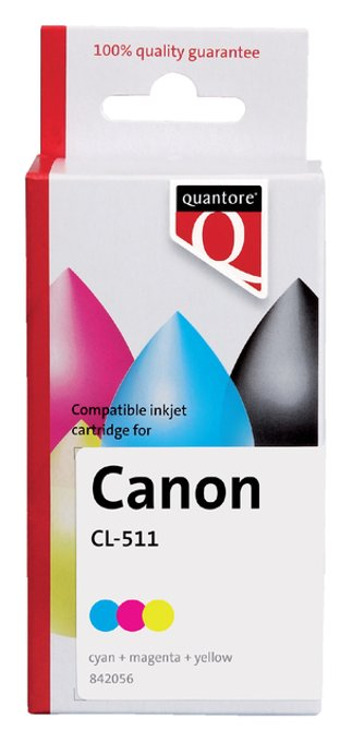 Inktcartridge Quantore Canon CL-511 kleur