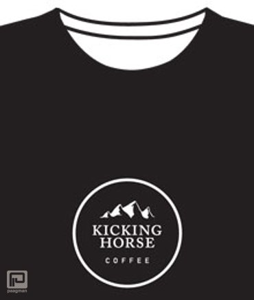 Kicking Horse Coffee T-shirt Dames/XL zwart