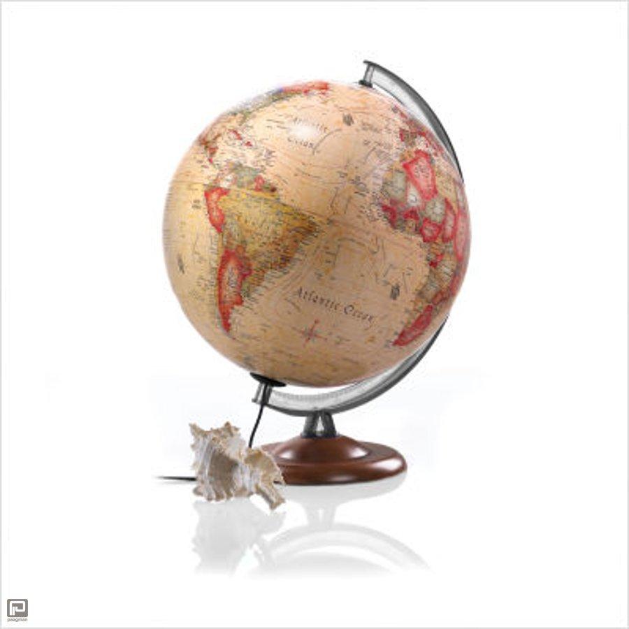 Atmosphere globe, diameter 30 cm, uitvoering antieke wereld en ...