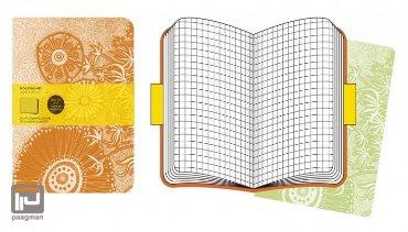Moleskine cahier journaal soft cover cover art XL Paul Desmond bloemmotieven geruit
