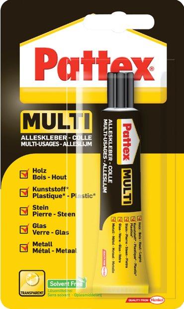 Alleslijm Pattex Multi tube 20gram op blister