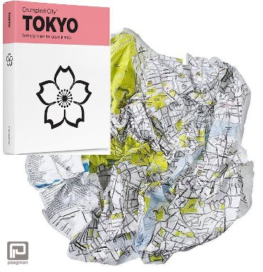 Crumpled City Maps Tokio