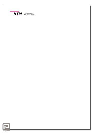 HTM Akte Envelop C4, kleur wit, 1-zijdig bedrukt HTM Logo, met plakstrip
