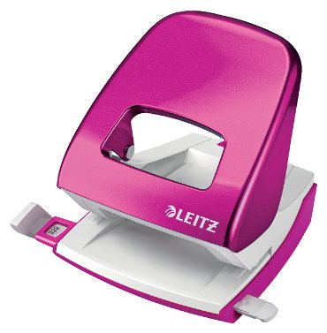 Perforator Leitz 5008 WOW 2-gaats 30vel roze