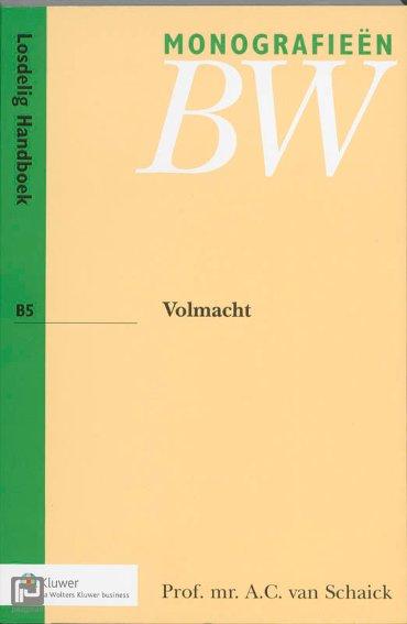 Volmacht - Monografieen BW