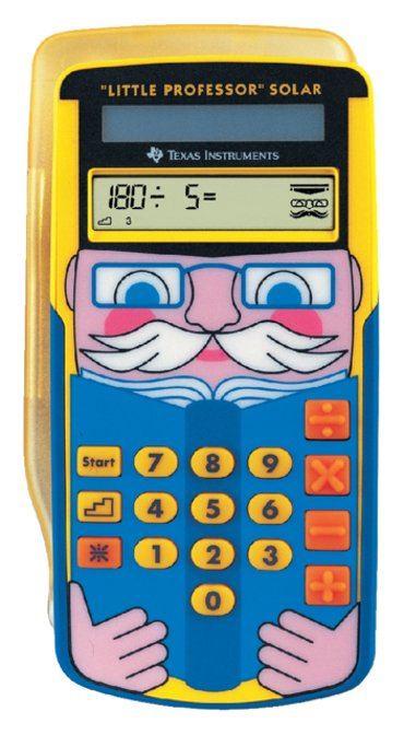 Rekenmachine Texas Instruments little professor solar