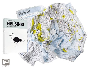Crumpled City Maps Helsinki