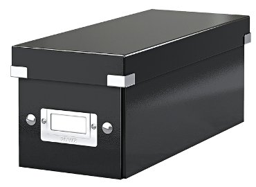 Cd box Leitz Click & Store 127x124x320mm zwart