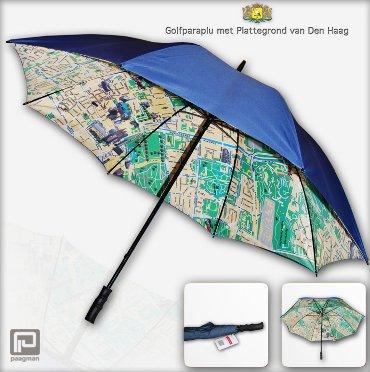 Paraplu met plattegrond van Den Haag