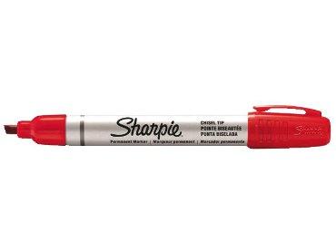 Viltstift Sharpie Pro schuin rood 2-5mm