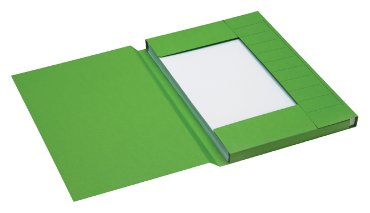 Dossiermap Jalema Secolor folio 3 kleppen 225gr groen