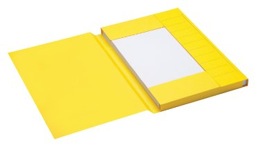 Dossiermap Jalema Secolor folio 3 kleppen 225gr geel