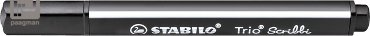 Stabilo viltstift Trio Scribbi, kleur zwart