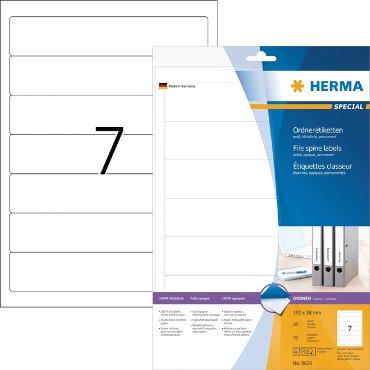 Rugetiket Herma smal 38x192mm zelfklevend wit