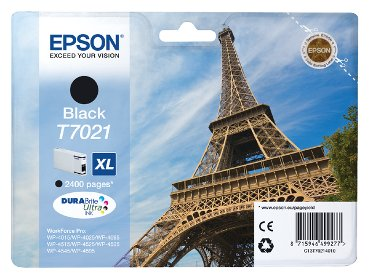Inkcartridge Epson T7021 zwart HC