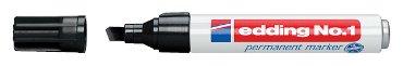 Viltstift edding 1 beitelpunt zwart 1-5mm