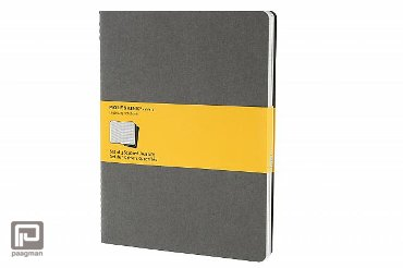 Moleskine cahier journaal XL licht grijs geruit