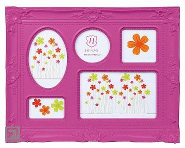 Henzo fotolijst colour barok, formaat 33 x 26,5 cm., kleur roze