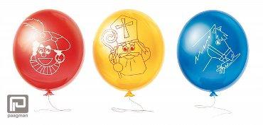 Ballonnen Sinterklaas en Zwarte Piet