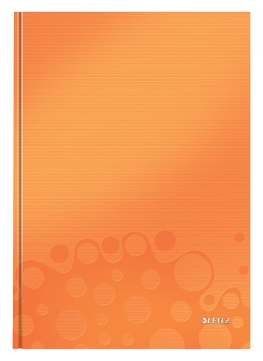 Notitieboek Leitz WOW A4 gelinieerd oranje