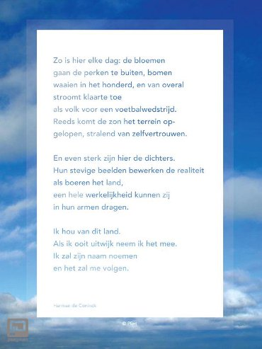 Raamgedicht Plint 'Zo is hier' Herman de Coninck