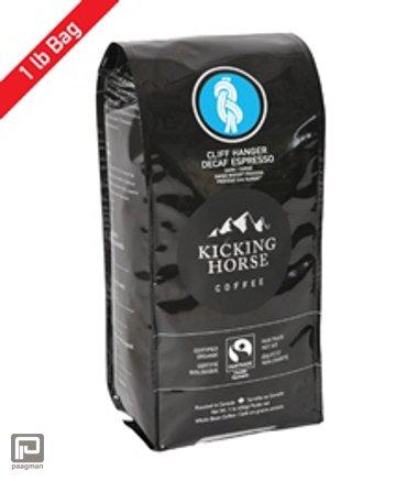Kicking Horse Coffee, Blend Cliff Hanger Decaf - Swiss Water® Process Organic Fair Trade, gewicht 1 lb (454 gram)