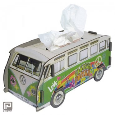Werkhaus Tissue box Volkswagen hippiebus