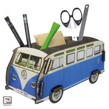 Werkhaus pennenbak Volkswagen bus blauw