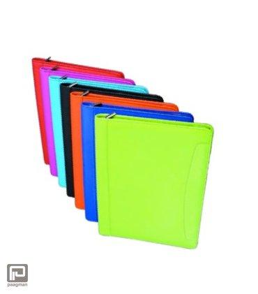Rillstab lederen schrijfmap Valo, formaat A4, kleur oranje
