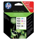 Inktcartridge HP C2N92AE 920XL zwart + 3 kleuren HC
