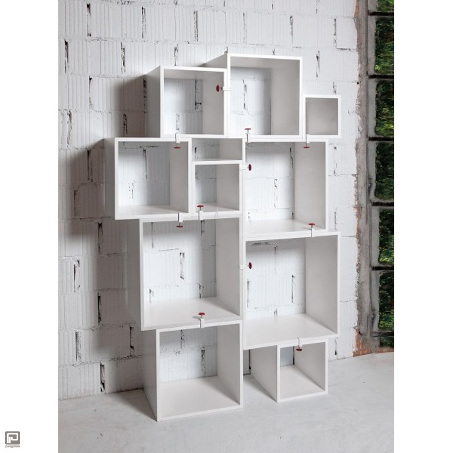 seletti boekenkast assemblage 10 modules wit