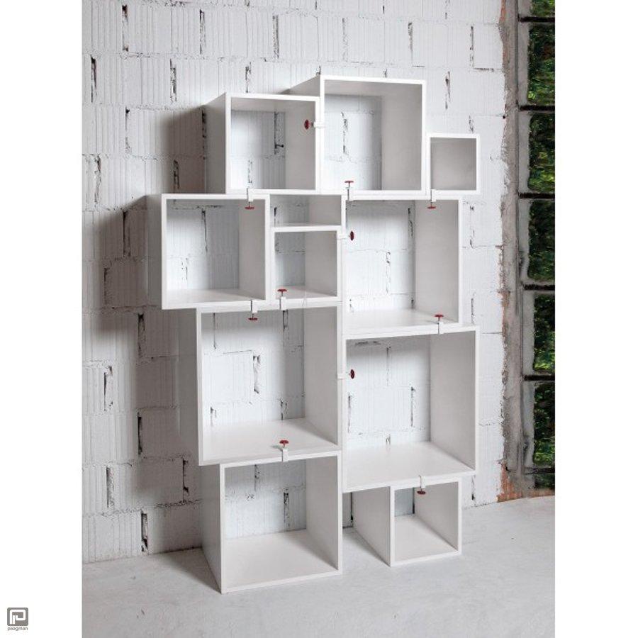 Seletti boekenkast Assemblage à 10 modules wit van Seletti | Paagman.nl