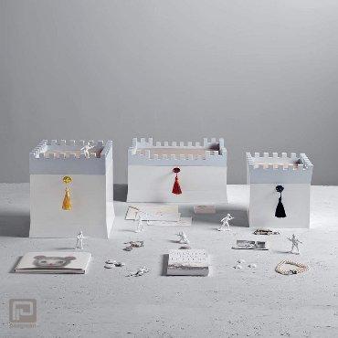 Seletti opbergbox Secret Boxes, formaat 19,5 x 19,5 x 20 cm., kleur blauw