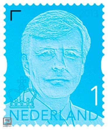 Koning Willem Alexander postzegel op vel, 10 x 1 (t/m 20 gram)