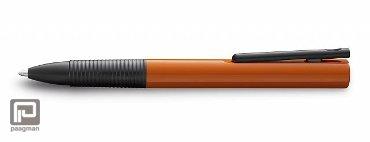 Lamy rollerpen, model Tipo K orange, met een medium blauwe vulling