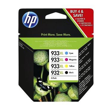 Inkcartridge HP C2P42AE 932XL/933XL zwart + 3 kleuren HC