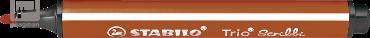 Stabilo viltstift Trio Scribbi, kleur lichtbruin